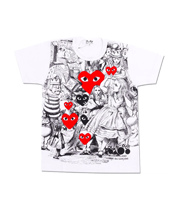 ×不思議の国のアリス キャラクター総柄プリントTシャツ