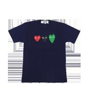 マルチカラーロゴハート プリントTシャツ