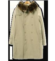 ファーカラーコート