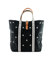 ラグビー スカルドット柄 キャンバストートバッグ