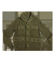 ショールカラーニットジャケット