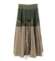 グレンチェックカモフラ切替スカート