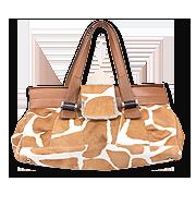 ハラコレザーハンドバッグ