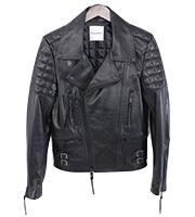 オールブラックジップジャケット