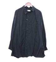 17AW捻れカラーカットオフ オーバーサイズシャツ