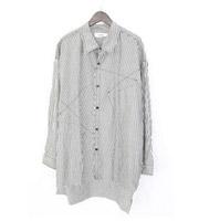 17AW再構築デザイン ストライプオーバーサイズシャツ