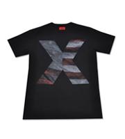 星条旗XプリントTシャツ