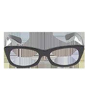 黒縁フレームメガネ