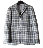 x ハリスツィード 3つボタンウールジャケット