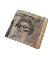 転写紙幣柄 2つ折り財布