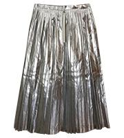 シルバー プリーツスカート