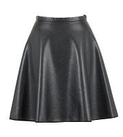 シンセティック レザースカート