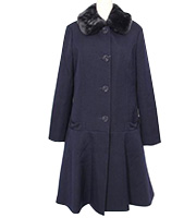 15AW 襟ボア付き ロングコート