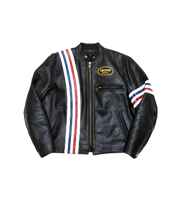 アメリカンフラッグ レザーシングルライダースジャケット