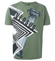 総柄プリント Tシャツ