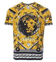 総柄ライオン モチーフTシャツ
