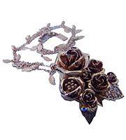 薔薇モチーフ ネックレス