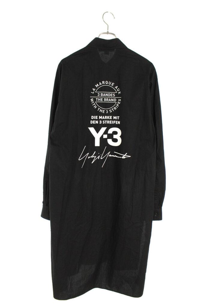 ワイスリー Y-3 CY6859 バックロゴ長袖シャツ