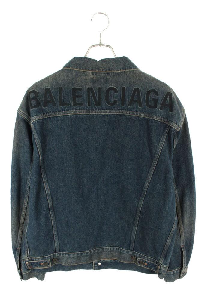 バレンシアガ BALENCIAGA 557351 TAP04 バック刺繍デザインオーバーサイズデニムジャケット