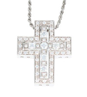 ベルエポック S/K18WGダイヤクロスネックレス