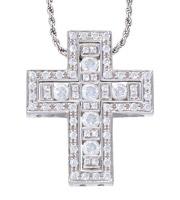ベルエポックM/BELLE EPOQUE M K18WGダイヤモンドクロスネックレス