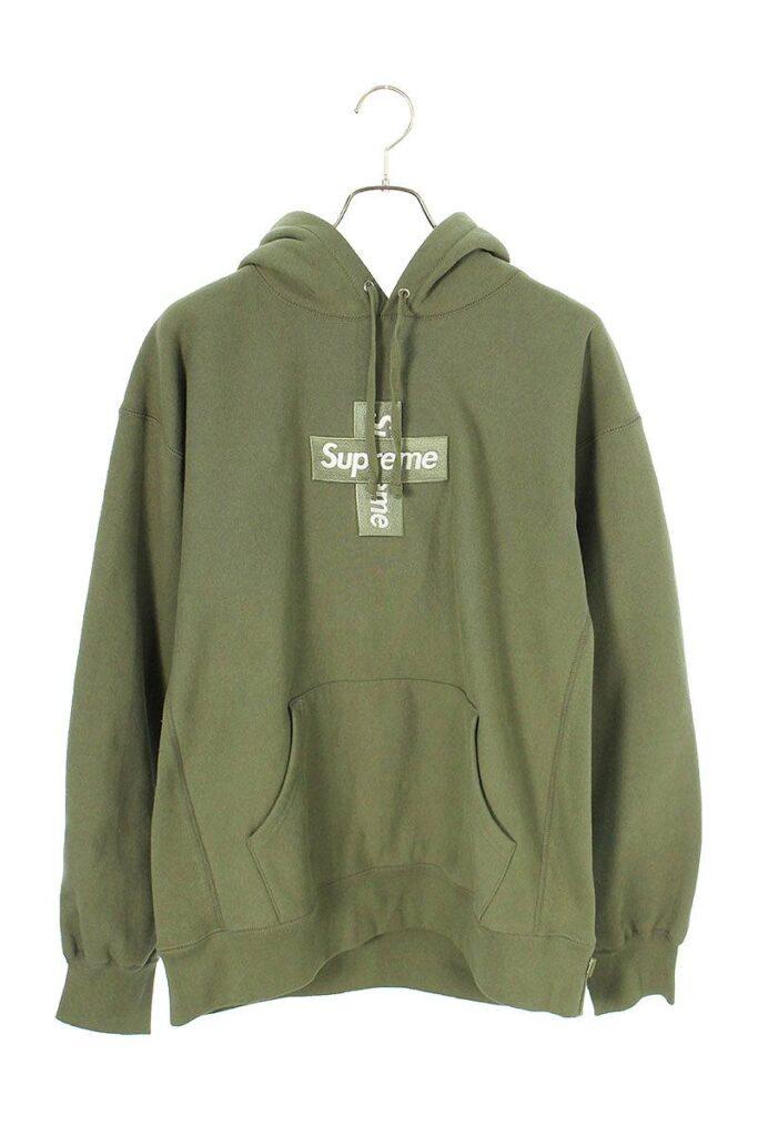 シュプリーム SUPREME Cross Box Logo Hooded Sweatshirt クロスボックスロゴフーデッドスウェットシャツパーカー