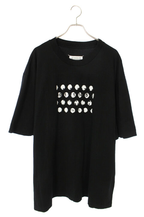メゾンマルジェラ Maison Margiera S50GC0625 パンチホールカレンダーロゴオーバーサイズTシャツ
