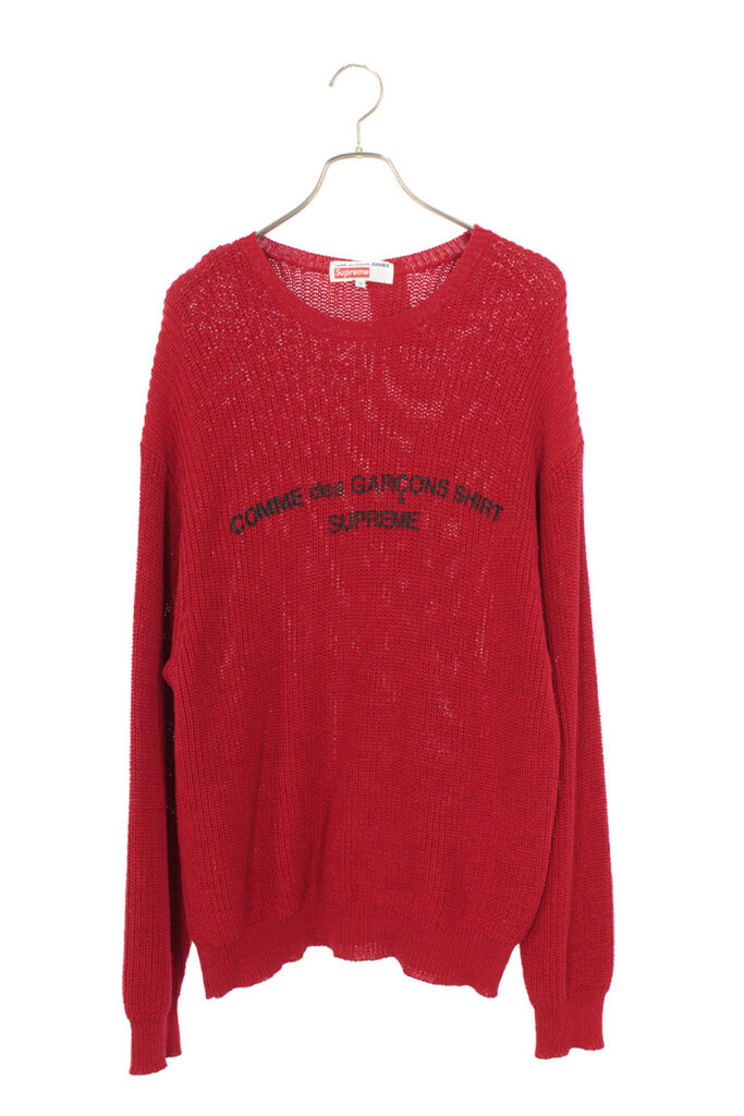 SUPREME シュプリーム COMME des GARCONS SHIRT コムデギャルソンシャツ  Cotton Sweater コットンセーター