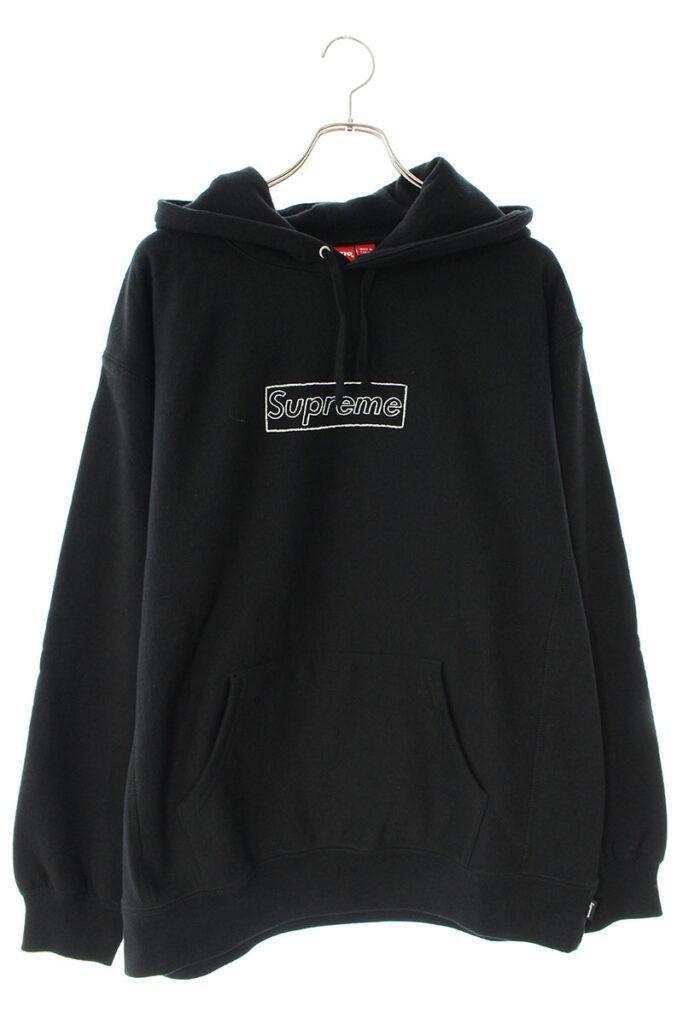シュプリーム Supreme × カウズ KAWS Chalk Logo Hooded Sweatshirt チョークボックスロゴプルオーバーパーカー