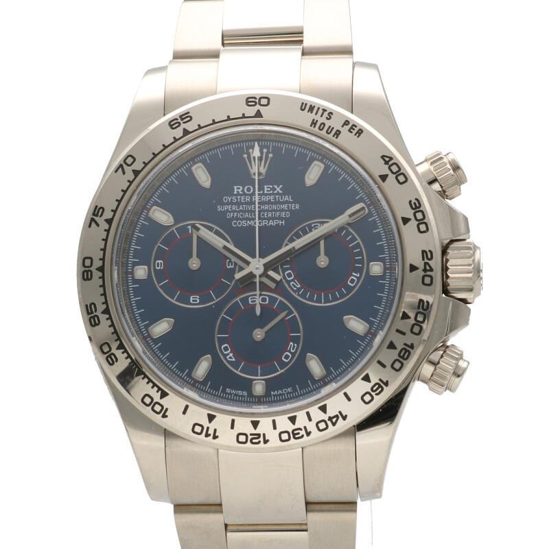 ロレックス ROLEX 116509 コスモグラフ デイトナ COSMOGRAPH DAYTONA K18WGランダム品番ブルーダイヤル青文字盤腕時計
