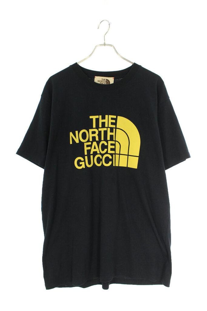 グッチ GUCCI × ザノースフェイス THE NORTH FACE 616036 XjDCL ロゴプリント オーバーサイズ Tシャツ