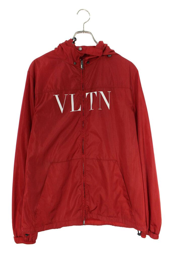 ヴァレンティノ VALENTINO QV3CI351DMA バックロゴ ジップアップ ナイロンブルゾン